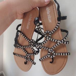 Black + Silver Sandals